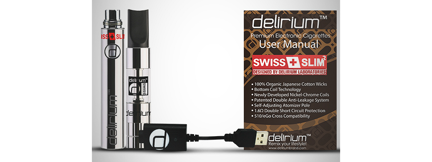 delirium Swiss & Slim 2 complete electronic cigarette kit