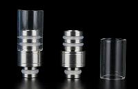 Detachable Top Pyrex & Metal 510 Drip Tip image 1