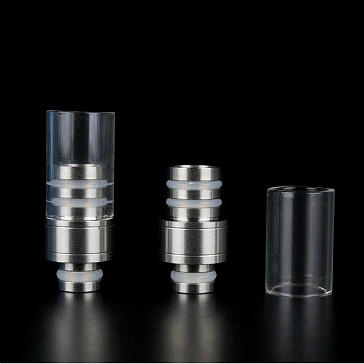 Detachable Top Pyrex & Metal 510 Drip Tip