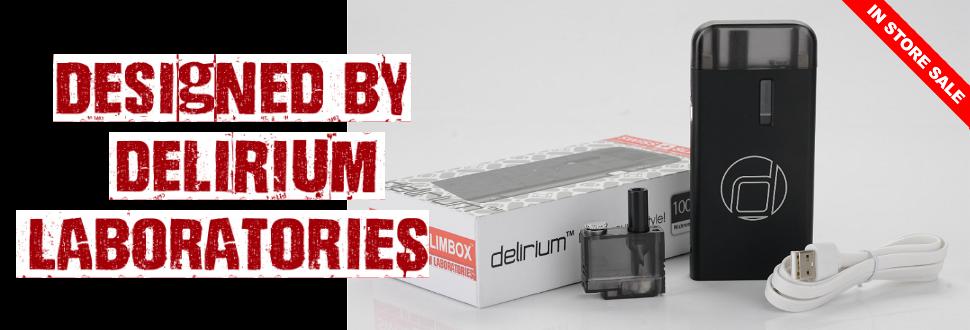 delirium, delirium ecig, delirium electronic cigarette, starter kit, swiss slim, swiss slimbox