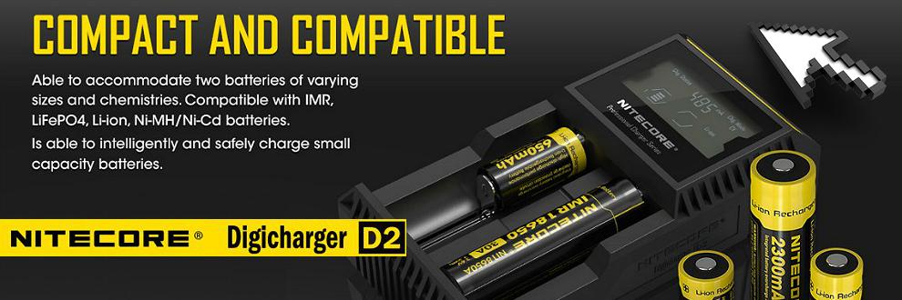 nitecore, charger, delirium, external charger, nitecore d2, 18650, quality charger, fast charger, quick charger